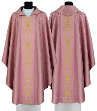 Rose Gothic style chasuble with matching stole 674-R25 us