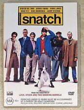 Snatch (Jason Statham & Brad Pitt) DVD in EXCELLENT condition (Region 4)