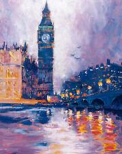 Roy Avis : Big Ben, Londres Tableau Prêt 40x50 Tableau Mural Villes Ville