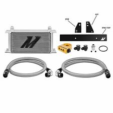 MISHIMOTO TERMOSTATICA Olio Cooler Kit-Argento-Si Adatta Nissan 370Z VQ37VHR