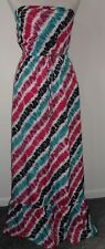Monsoon Bright Stripe Strapless Maxi Dress Size U.K: 10 Pre Loved Holiday