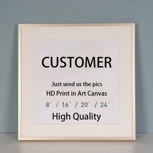 Custom Your Photo Picture HD Print on Art Fabric Canvas Poster Customized Sizes