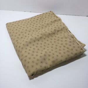 """2.75 Yards Tan with Brown Star Pinwheels  Fabric 45"""" wide 100% Cotton"""