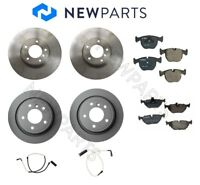 For BMW E39 530i 540i Front+Rear Zimmermann Rotors Bosch Pads Bowa Sensors KIT