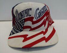 Vintage Olympic Snapback Hat Cap 1996 Atlanta USA Black Green White