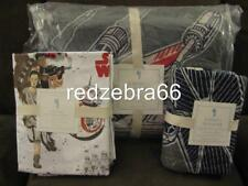 Pottery Barn Kids Star Wars X-Wing & Tie Fighter Twin Quilt Sham Sheet Set 5-pc