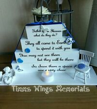 Memorial/remembrance wooden blocks funerals weddings birthday fathers day grave