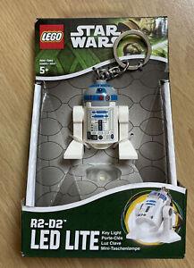 LEGO Star Wars R2-D2 Mini figure Key ring LED Light Torch Gift BNIB