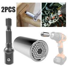 7-19mm Gator Grip Universal Llave De Tubo Llaves + Kit de Adaptador de Taladro de alimentación