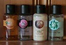 🤍The Body Shop 🌈 Mixed Travel Shower Gels 🌈 Satsuma Shea Rose Fuji 4 x 60ml🤍