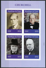 More details for chad 2019 mnh winston churchill 4v impf m/s politicians famous people stamps