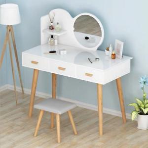 Makeup Vanity Dressing Table Set Dresser Desk with Led Light Hollywood Mirror US