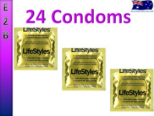 New Ansell LifeStyles Large Lubricated 24 Gold Condoms Bulk Buy Condoms Pack