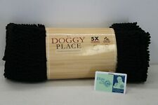 """NEW My Doggy Place Clean House Black Ultra Absorbant Chenille Doormat 31"""" x 20"""""""