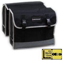 Dunlop Doppel Fahrradtasche Satteltasche Gepäckträger Wetterfeste Transport