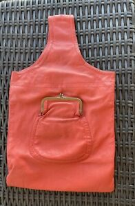 VINTAGE ORANGE / CORAL THE CASHIN CARRY BY BONNIE CASHIN LEATHER BAG PURSE