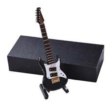 Mini Electric Guitar with Support Case Miniature Musical Instruments Music Gift