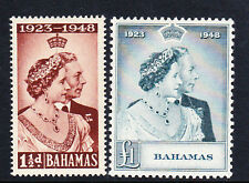 Bahamas 1948 Royal Silver wedding SG 194-195 como nuevo.