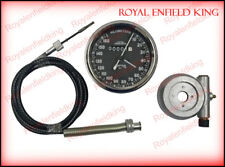 "Smith Speedometer 10-160 Kph + Steel Speedo Drive & Cable 54"" Long Royal Enfield"