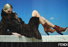 PUBLICITE ADVERTISING 025  2014  FENDI 2    haute couture boots ( 2p)