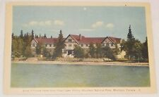 Chalet Hotel from clear lake, Riding Mountain National Park Manitoba postcard