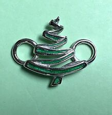 Christmas Tree with Epoxy Clasp Sterling Silver 925 New - Convertible Collection