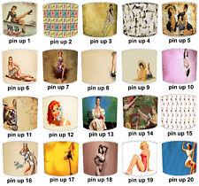 Pantallas de Lámpara para Combinar Vintage Retro Pin Up Niña Edredones, Póster