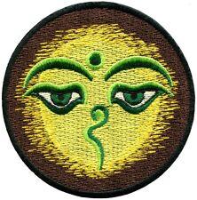 Eyes of Buddha peace trance boho hippie yoga applique iron-on patch G-64