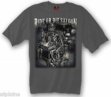 T-Shirt MC RIDE OR DIE SALOON - Taille L - Style BIKER HARLEY