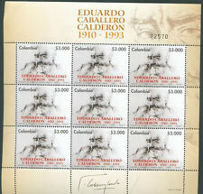 COLOMBIA LITERATURE 2010 Minisheet CALDERON Complete Set MNH