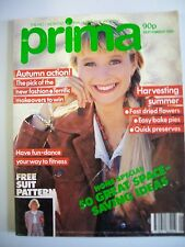 Prima Magazine September 1989. Fast dried flowers. Easy bake pies. Quick preserv