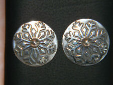 925 Sterling Silver Winter Snowflake Earrings E106