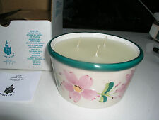 PARTYLITE FLORAL DELIGHT 3 WICK CANDLE IN HOLDER P1309 RETIRED HTF NEW