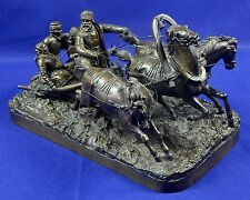 Antique Russian Russia 19 C Evgeny NAPS Large Bronze Troika Sculpture Figurine
