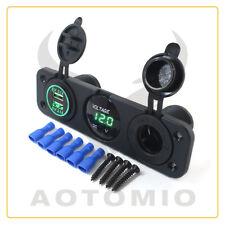 12-24V Dual USB Port Car Charger Cigarette Lighter Socket Power Plug Outlet