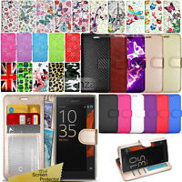 For Sony Xperia XZ Premium G8141 G8142 - Wallet Leather Case Cover + Screen Film