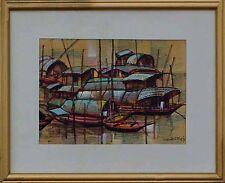 Modern Art- Wawpen dat.87 bekannter chinesischer Maler, Boote auf dem Mekong xxx