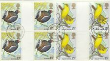 (49455) GB Used GUTTER PAIRS Birds 1980 ON PIECE