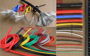 1M/5M Flexible Super Soft Tinned OFC Copper Silicone Wire RC Cable UL 2AWG-30AWG