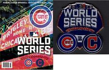 2016 WORLD SERIES PROGRAM CHICAGO CUBS TEAM SPECIFIC + DUELING TEAM LAPEL PIN