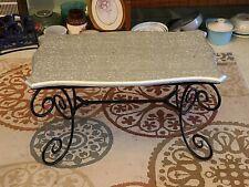 Vintage Style Aluminum Wrapped Wooden Top Foldable Coffee Table