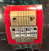 NEVADA CLUB Vintage Cardboard Slot Machine Box Advertising