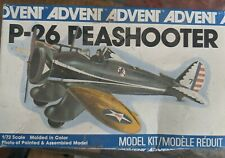 1971 P-26 Peashooter Advent 1/72 Scale Model Airplane Collectible Vtg