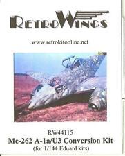 RetroKits Models 1/144 MESSERSCHMITT Me-262A-1a/U3 Resin Conversion Kit