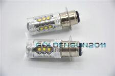 Yamaha Raptor 660 LED Headlights Bulbs 80W Super White ATV 2005 Quad Motorcycle