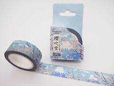 Japanese Mt. Fuji washi tape! Cute cherry blossom & plum flower planner tape