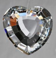 35mm Heart Crystal Golden Silver Foil Pendant Prism SunCatcher 1-1/3 inch