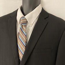 42R Mens CARAVELLI Slim Sport Coat Blazer Suit Jacket  Black Wool