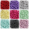 Multi Color Glass Pearl Round Spacer Loose Beads 200x4mm100x6mm50x8mm30x10mm CSM