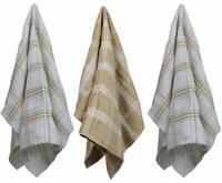 3 Pack Tea Towels - 100% Cotton Premium Quality Super Absorbent - 57 x 38 cm